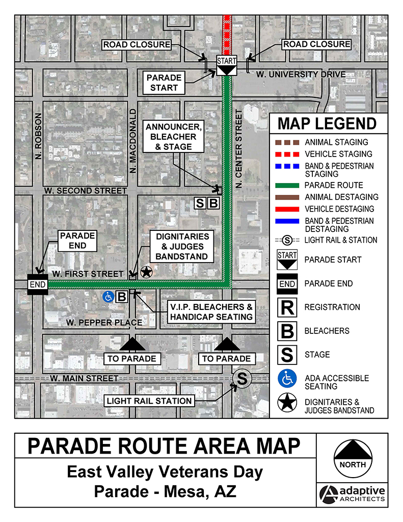 EVVP Parade Route Map