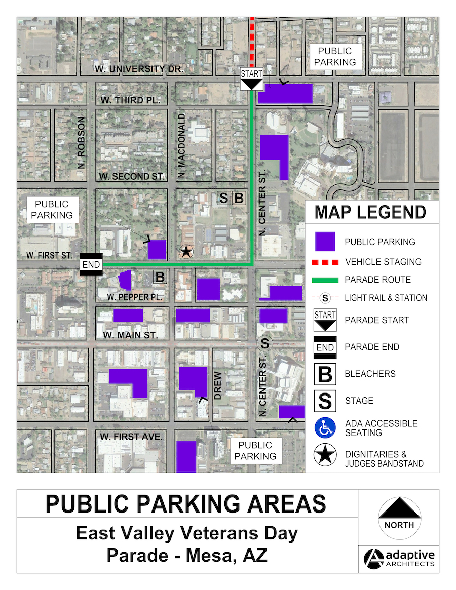 East Valley Veterans Day Parade Public Parking 2019
